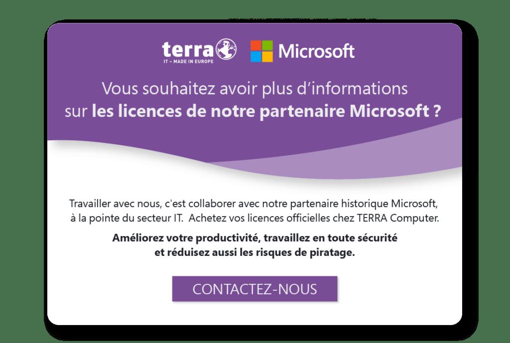 Offre partenariat Microsoft - Terra computer